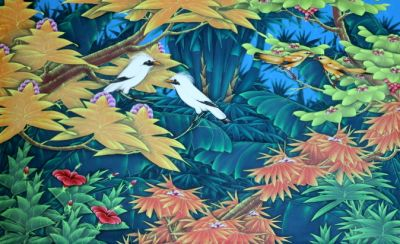 Birds in a tree (90 cm x 140 cm)
